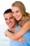 Lovers piggyback Stock Photo