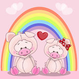 Lovers pigs Royalty Free Stock Photography