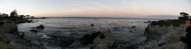 Lovers' Point at Sunset. Monterey, California stock images