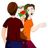 Lovers quarrel Royalty Free Stock Photos