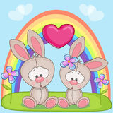 Lovers Rabbits Royalty Free Stock Photography