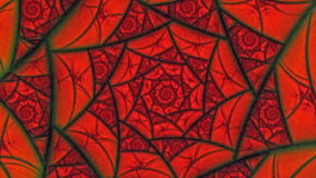 Lovers Red Spider Web Flower Pattern  Animation Background stock video footage