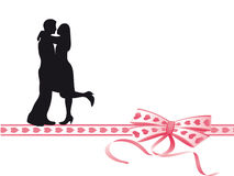 Lovers on the ribbon Stock Image