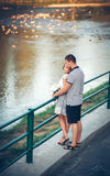 Lovers on romantic walk Royalty Free Stock Images