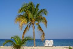 Lovers Seat on the beach in Jamaica. Caribbean Royalty Free Stock Photos