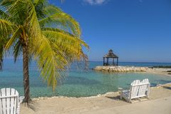 Lovers Seat on the beach in Jamaica. Caribbean Royalty Free Stock Images