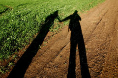 Lovers shadow Royalty Free Stock Image
