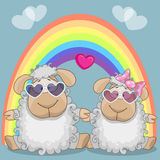 Lovers sheep Stock Image