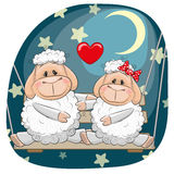 Lovers Sheep royalty free illustration