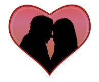 Lovers silhouette Royalty Free Stock Images