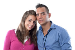 Lovers smiling isolated Royalty Free Stock Images
