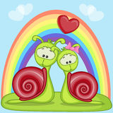 Lovers Snails Royalty Free Stock Photo