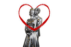 Lovers statuette Royalty Free Stock Photography