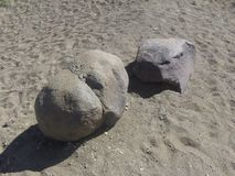 The lovers stones of namibia stock photography