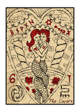 The Lovers. The tarot card Royalty Free Stock Images
