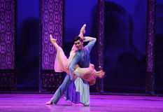 Lovers together-The third act of dance drama-Shawan events of the past Stock Photography