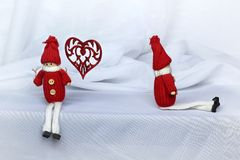 Lovers toy boy and girl. Two lovers toy boy and girl Royalty Free Stock Photography