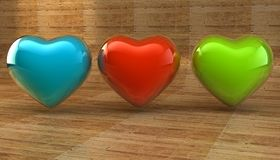 Lovers, Valentine`s Day. Symbol of love. Feast of love. Lovers, Valentine`s Day. Symbol of love. 3d image Royalty Free Stock Photos