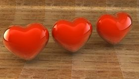 Lovers, Valentine`s Day. Symbol of love. Feast of love. Lovers, Valentine`s Day. Symbol of love. 3d image Stock Photography