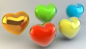 Lovers, Valentine`s Day. Symbol of love. Feast of love. Lovers, Valentine`s Day. Symbol of love. 3d image Stock Images