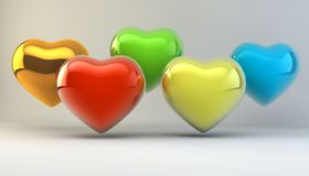 Lovers, Valentine`s Day. Symbol of love. Feast of love. Lovers, Valentine`s Day. Symbol of love. 3d image Royalty Free Stock Photo