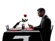 Free Lovers Waiting For Dinner Silhouettes Stock Photo - 41870760