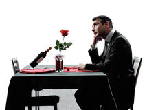 Free Lovers Waiting For Dinner Silhouettes Stock Photo - 45393070
