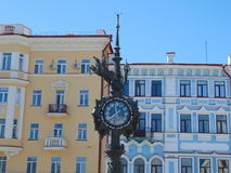 Lovers watch, Bauman Street, Kazan, Tatarstan Royalty Free Stock Image