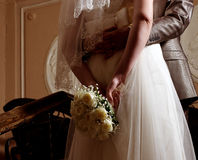 Lovers who are just married Royalty Free Stock Images