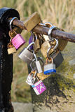Lovers' padlocks Royalty Free Stock Photos