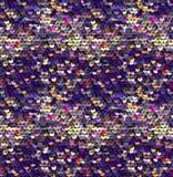 Lovertjes Naadloos Patroon Vector Zonder gradiënt Purpere Achtergrond Stock Foto's