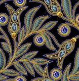 Lovertjes Naadloos Vectorpatroon Zonder gradiënt Zwarte achtergrond Royalty-vrije Stock Foto