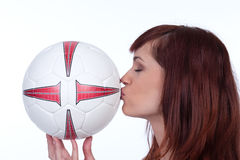 She loves this game! Royalty Free Stock Images