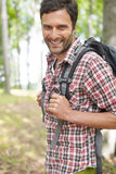 He loves hiking Royalty Free Stock Images