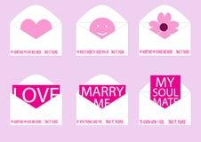 Loves inside envelope Royalty Free Stock Images