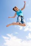 She loves jumping Royalty Free Stock Image