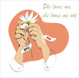 She Loves Me Not Royalty Free Stock Photo