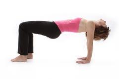 She loves yoga Stock Photo
