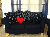 loveseat сердца Стоковые Изображения