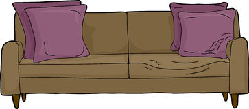 Loveseat with Invsible Person Royalty Free Stock Image