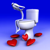 Lovesick in the restroom Royalty Free Stock Photo