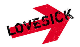 Lovesick rubber stamp Stock Photography