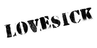 Lovesick rubber stamp Royalty Free Stock Image
