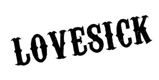 Lovesick rubber stamp Royalty Free Stock Photo