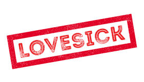 Lovesick rubber stamp Stock Photo