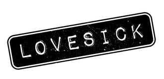 Lovesick rubber stamp Royalty Free Stock Images