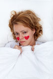 Lovesick woman concept Stock Images