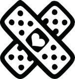 Lovesickness plaster vector. Lovesickness plaster plaster valentine vector Stock Photo