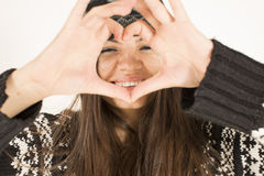 Lovesign woman Royalty Free Stock Photography
