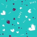 Romantic seamless pattern with hearts for your design. Wallpaper, card, website royalty free illustration